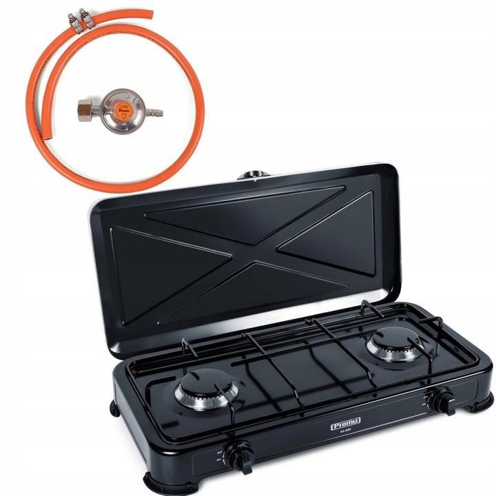 Газовая двойная плита KG200C + редуктор