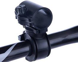 """Кріплення поворотне для ліхтаря на велосипедний кермо """"циліндр 360º"""""""