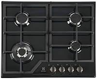 Встраиваемый духовой шкаф электрический Electrolux GPE 363 MB (чуг. реш., газ контроль, черный), фото 1