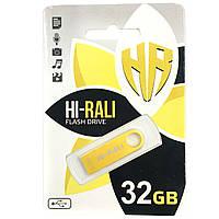 Флешка Hi-Rali 32GB Shuttle series Gold