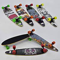 Скейтборд-лонгборд, 6 видов, доска 86 см, канадский клен, колёса PU, d=6,5см, подшипники ABEC-9, С 32027