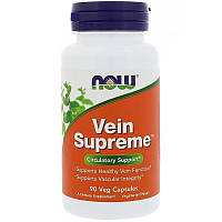 Now Foods Vein Supreme (90 капсул), для вен, для сосудов, от варикоза