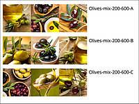 Стеклянные декоры для кухни Olives-mix
