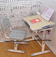 Детская парта и стул растишки Piccolino  + лампа
