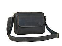 Мужская сумка кросс боди GS кожаная 19*25*5 см коричнева