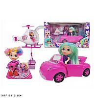 """Кукла """"Н"""" питомцы,верталет,машина, аксессуары, в кор. 39,5*16*21см /24-2/ (TM253A)"""