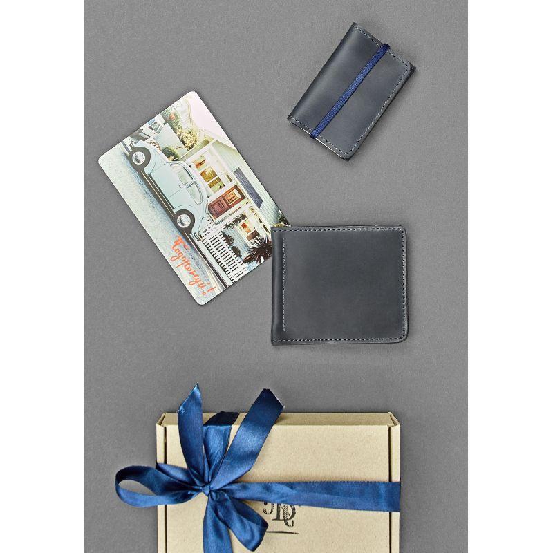 Мужской подарочный набор кожаных аксессуаров Токио