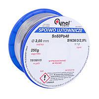 Припой для пайки оловянно-свинцовый Cynel Sn60Pb40 250гр (3мм)