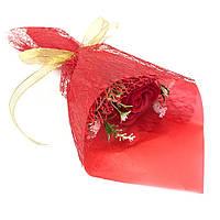 Ароматическая роза мыло цветок, букет - подарок на день Святого Валентина, красный цвет, набор 12 шт