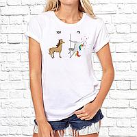 """Женская футболка с принтом Лошади """"YOU ME"""" Push IT"""