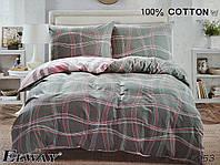 Сатиновое постельное белье семейное ELWAY 5053 «Абстракция»