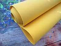 Фоамиран для ростовых цветов, 2 мм, 1х4 м, цвет ЖЕЛТЫЙ
