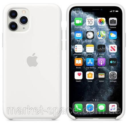 """Чехол силиконовый для iPhone 11 Pro. Apple Silicone Case, цвет """"White"""" (с открытым низом), фото 2"""