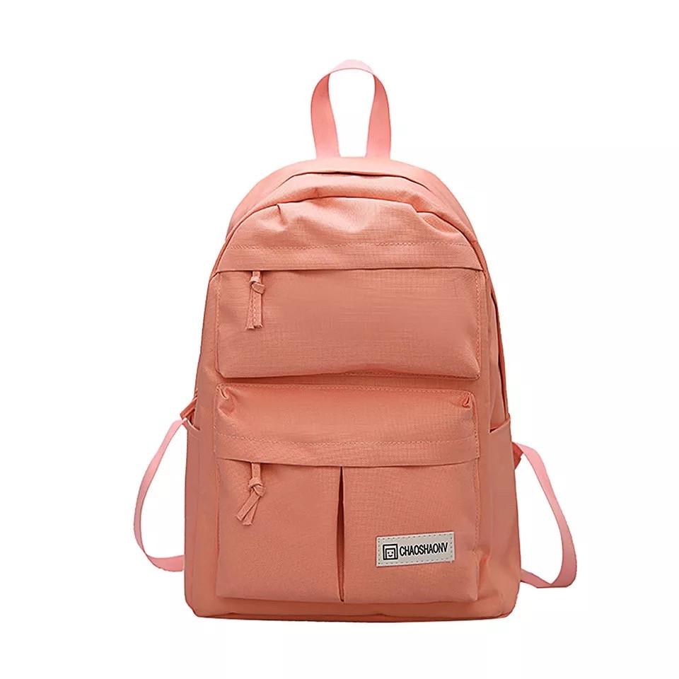 Розовый рюкзак для девочки подростка водонепроницаемый.