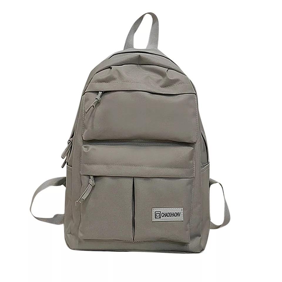 Серый рюкзак однотонный для подростков водонепроницаемый Muqgew(AV207)