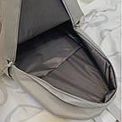 Серый рюкзак однотонный для подростков водонепроницаемый Muqgew(AV207), фото 9