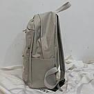 Серый рюкзак однотонный для подростков водонепроницаемый Muqgew(AV207), фото 3