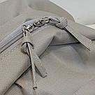 Серый рюкзак однотонный для подростков водонепроницаемый Muqgew(AV207), фото 7