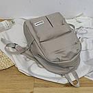 Серый рюкзак однотонный для подростков водонепроницаемый Muqgew(AV207), фото 5