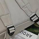Серый рюкзак однотонный для подростков водонепроницаемый Muqgew(AV207), фото 8
