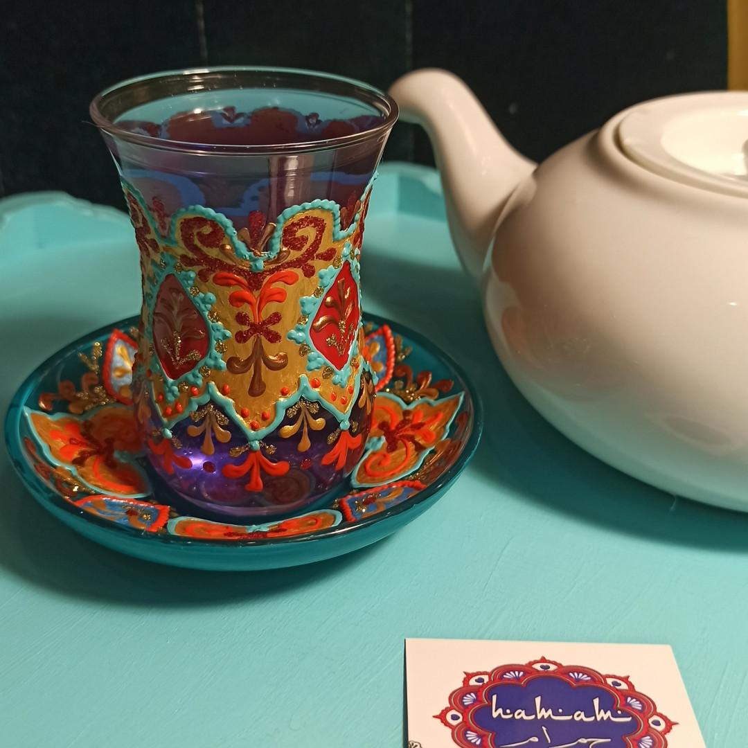 """Стакан турецький """"лале, тюльпан, армуд"""", ручна розпис."""