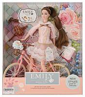 Кукла с велосипедом и аксессуарами, в кор.33*28*6см /48-2/ (QJ077)