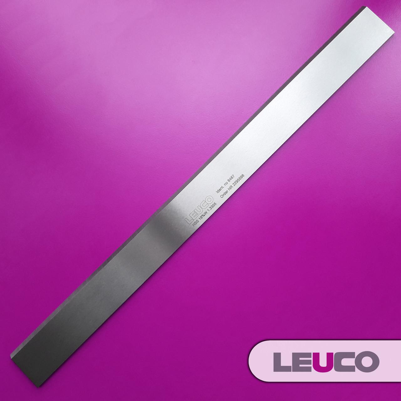 Строгальные (фуговальные) HSS 18% ножи Leuco для фуганков и рейсмусов 610х30x3