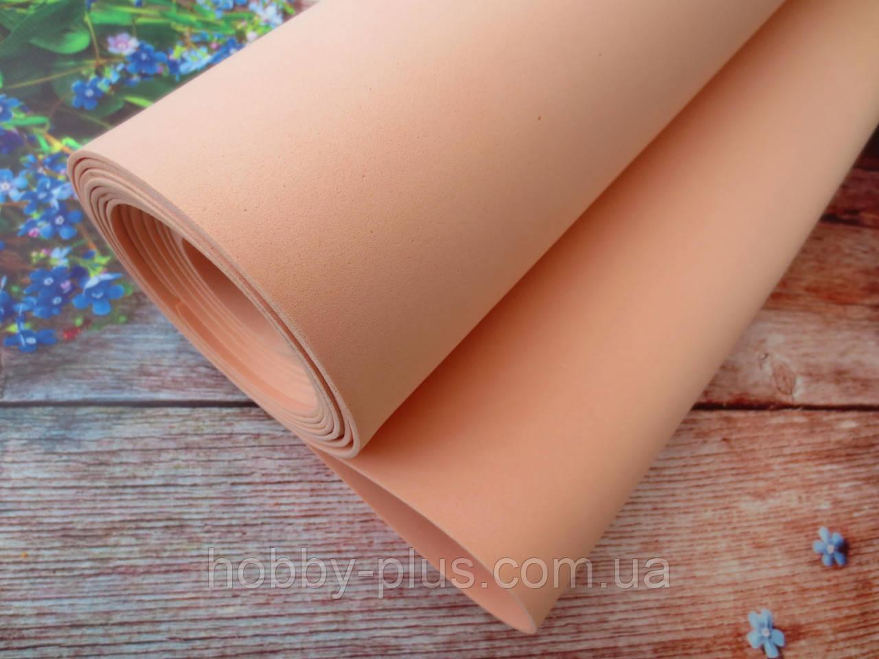 Фоамиран для ростовых цветов, 2 мм, 1х4 м, цвет ПЕРСИКОВЫЙ
