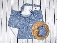 Накидка для кормления + сумочка-чехол, Цветы