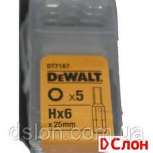 Набор бит  DeWALT DT7167, Torx, T2, L= 25 мм, 5 шт