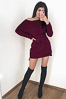 Теплое платье на флисе  со съемным поясом-корсетом