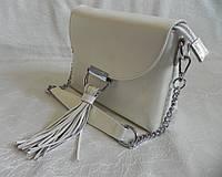 Женская сумка из натуральной кожи RVL 292963 white, фото 1