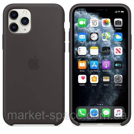 """Чехол силиконовый для iPhone 11 Pro Max. Apple Silicone Case, цвет """"Black"""" (с открытым низом), фото 2"""