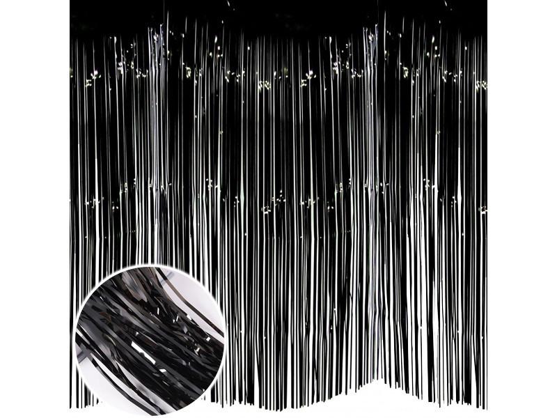Шторка з фольги для створення фото зони 1 х2 метри чорна 1638