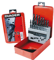 Набор сверл по металлу HSS Standard (DIN 338) 19 шт. 1-10, Diager