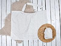 Накидка для кормления + сумочка-чехол, Клетка