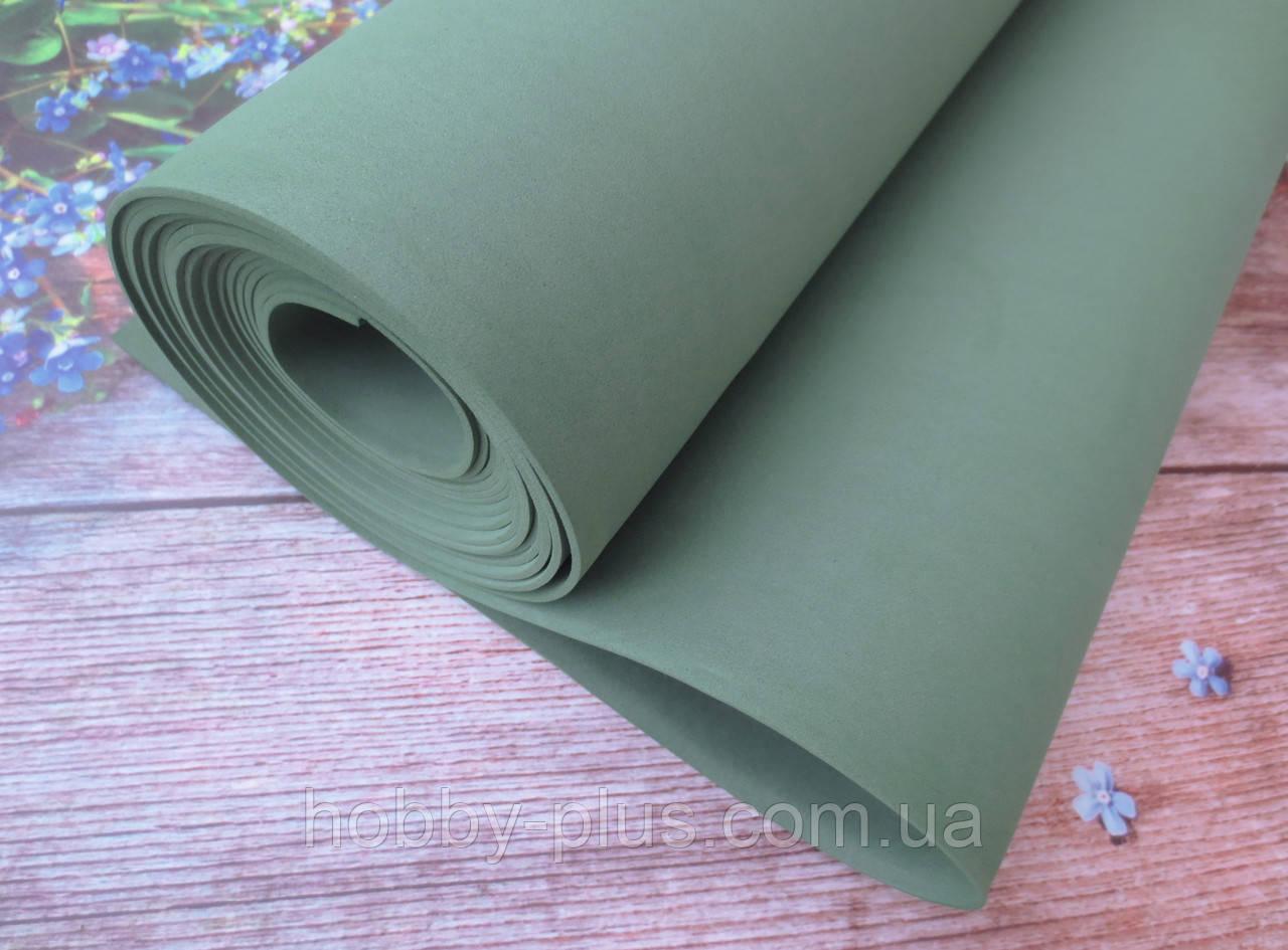 Фоамиран для ростовых цветов, 2 мм, 50х50 см, цвет оливковый