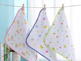 Набор детских муслиновых платочков ( 4 шт в упаковке)