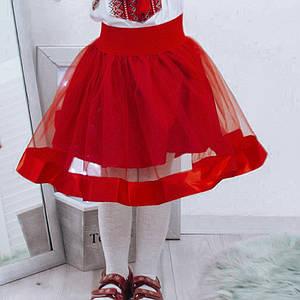 Красная юбка фатин Волынянка