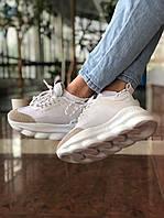 Женские кроссовки Версаче белого цвета