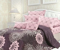 """Двуспальный комплект постельного белья """"Розовые сны компания"""""""
