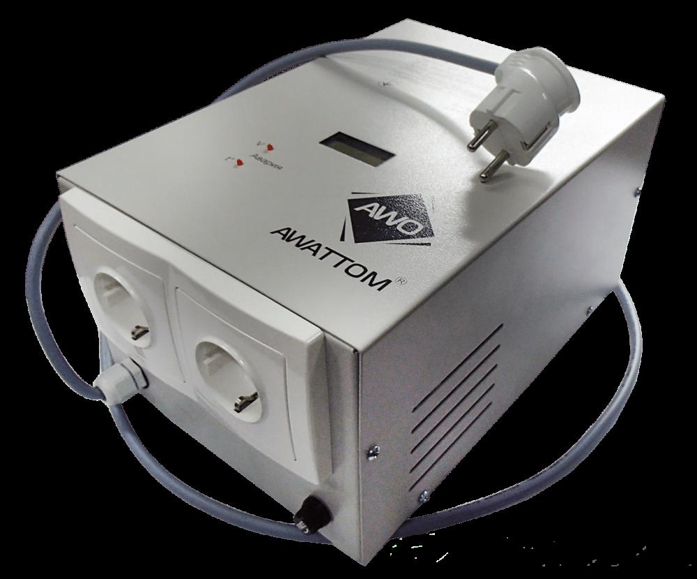 Однофазный стабилизатор напряжения AWATTOM СНОПТ (1,0 кВт)