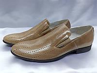 Стильные летние кожаные туфли Rondo