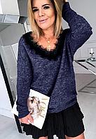 Ангоровая кофточка  с шикарной ажурной спинкой подчеркнет вашу нежность и женственность, фото 1