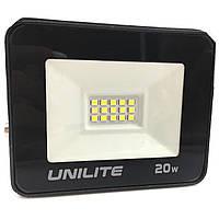 Светодиодный LED прожектор UNILITE 20W 220V 1600lm 6500K