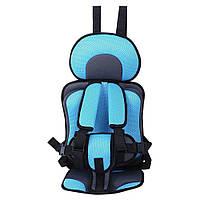 Детское автокресло бескаркасное. Кресло автомобильное портативное (голубое)