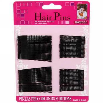 Невидимки для волос рифленые, 100 шт