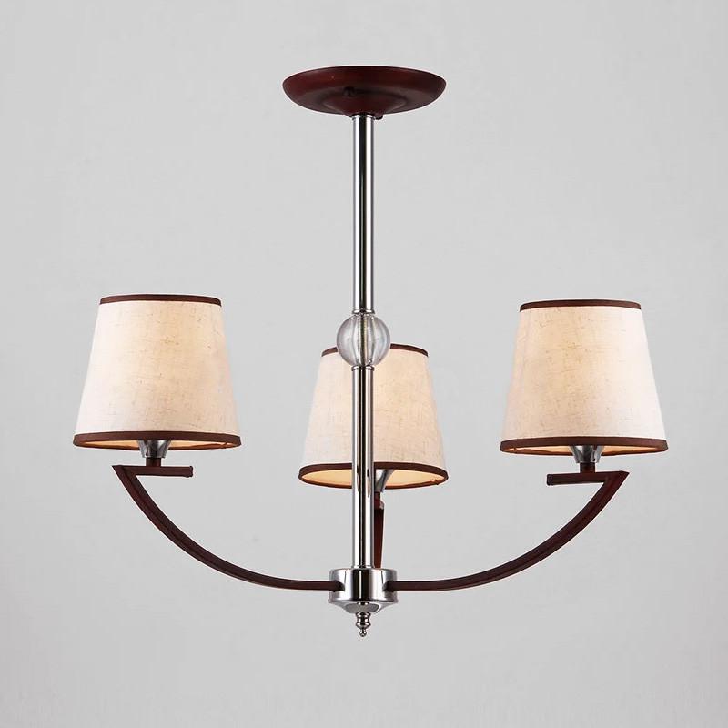 Люстра потолочная на три лампы NM-814334/3 CR BR хром