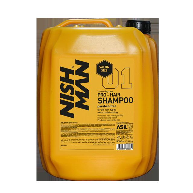Nishman шампунь для волос салонный объём 5л