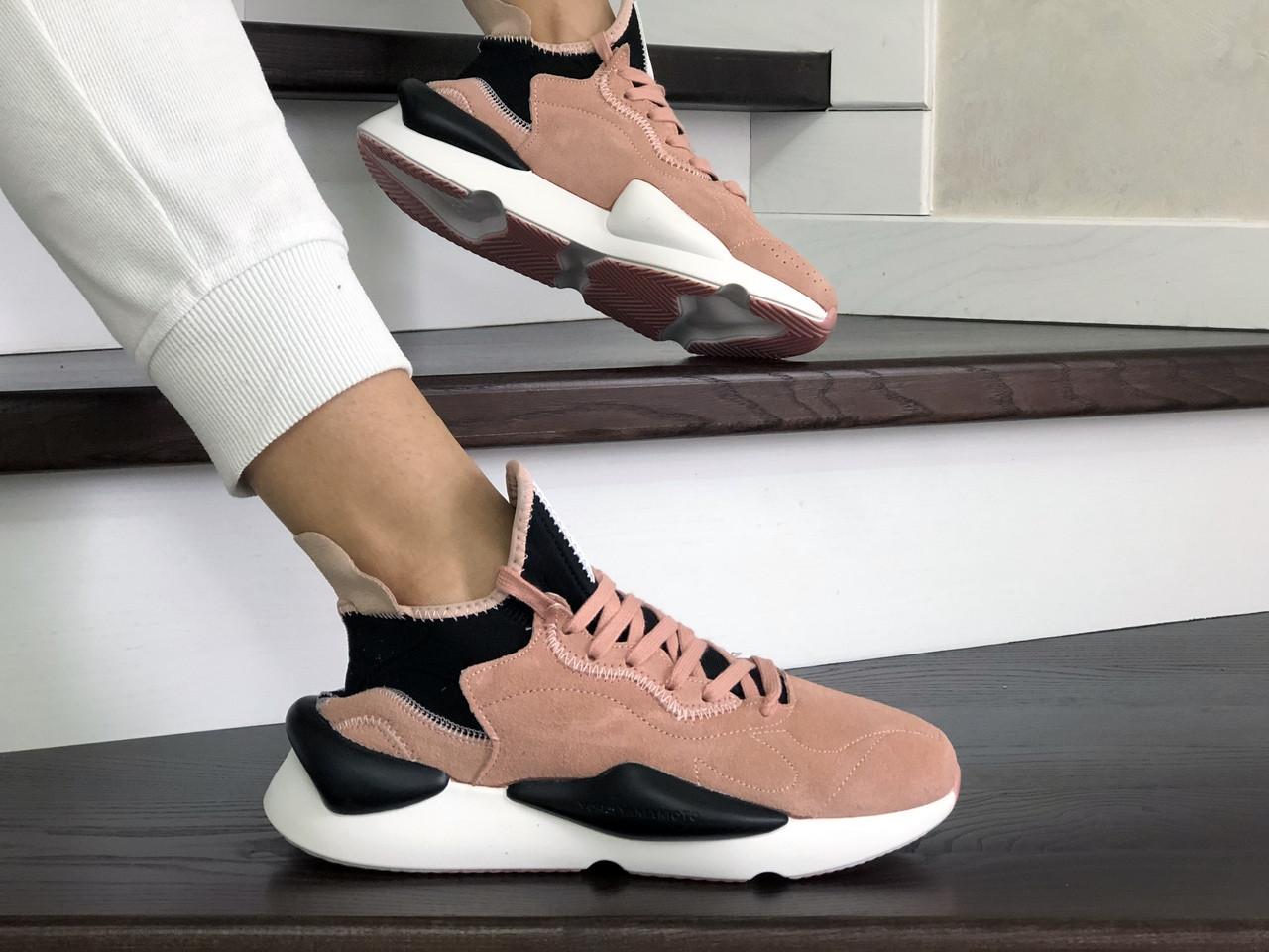 Жіночі кросівки Adidas Y-3 Kaiwa (пудрові)